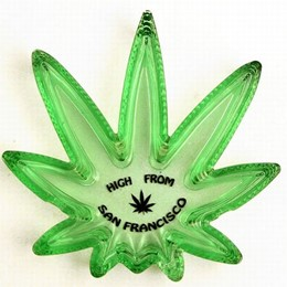 """High from San Francisco"" Glass Ashtray"