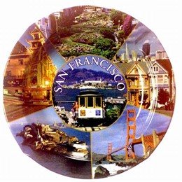San Francisco Round Tin Ashtray