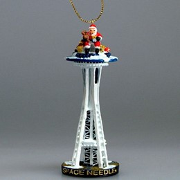 Seattle Space Needle Large Polyresin Christmas Ornament