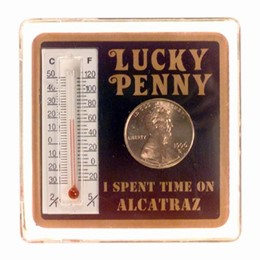 San Francisco Alcatraz Lucky 1 Cent Thermometer Magnet