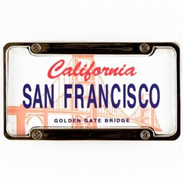 San Francisco California License Plate Magnet