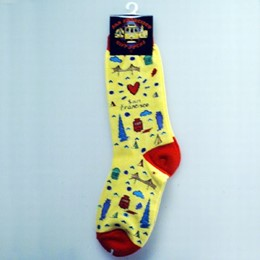 "San Francisco ""Subway"" Medium Socks (Size 9-11)"