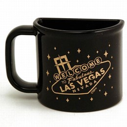 Las Vegas Sign Black 1/2 Cup Magnet