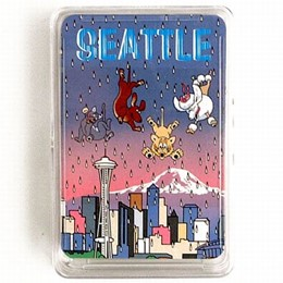 Seattle Cats & Dogs Playing Cards