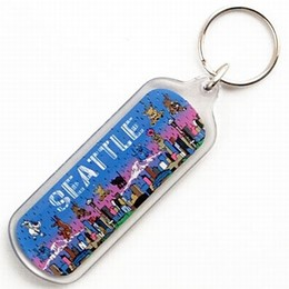 Seattle Cats & Dogs Keychain