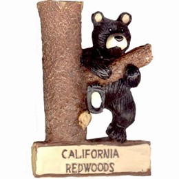 California Souvenir Redwoods Hanging Bear Magnet