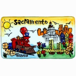 Sacramento Puff Hand Painted Magnet