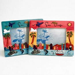 San Diego Hand Painted 4x6 Picture Frame