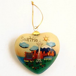 Seattle Puff Hand Painted Christmas Ornament