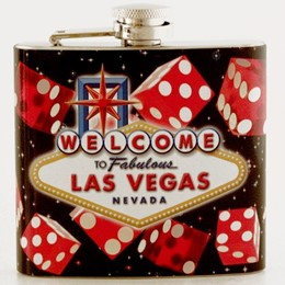 Las Vegas Dice 5oz Flask