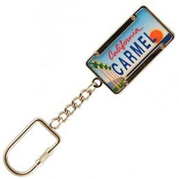 Carmel License Plate Keychain