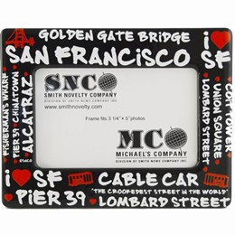 San Francisco Black Graffiti 3 1/2 x 5 Picture Frame