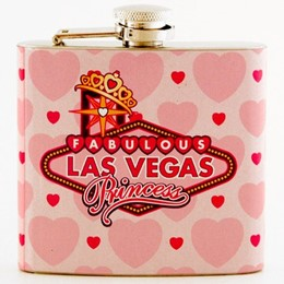 Las Vegas Princess Pink 5 oz Flask