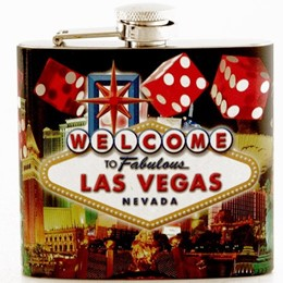 Las Vegas Dice Collage 5oz. Flask