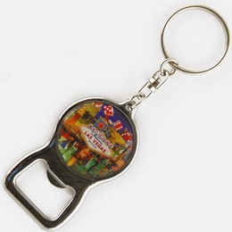 Las Vegas Dice Collage 30mm Opener Keychain