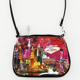 Las Vegas Fireworks Collage Small Purse