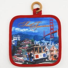 San Francisco Collage Photo Square Hotpad