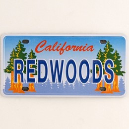 California Redwoods Mini License Plate Metal Magnet