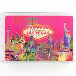 Las Vegas Pink Solar Playing Cards