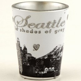 Seattle In Shades of Grey Shotglass