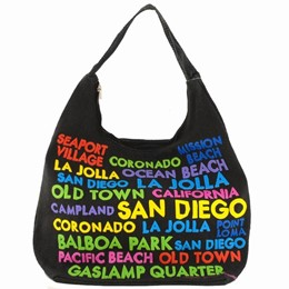 San Diego Cut Out Multicolor Hobo Bag-Canvas