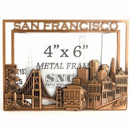 San Francisco CutOut/Skyline 4x6 Copper Metal Frame