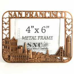 San Francisco Cutout/Hearts 4x6 Copper Metal Frame
