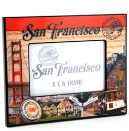 San Francisco Stamp 4x6 Epoxy Frame