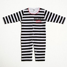 "Alcatraz ""Too Cute"" Striped Jammies"