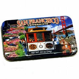 San Francisco Cable Car Photo Collage Peppermints