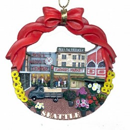 Seattle Pike Place Polyresin Christmas Ornament