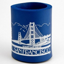 San Francisco Cable Car & Golden Gate Bridge Can Cooler