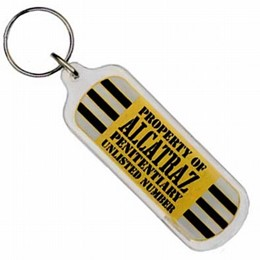 San Francisco Alcatraz Striped Oblong Keychain