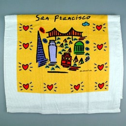 "San Francisco ""Subway"" Tea Towel"