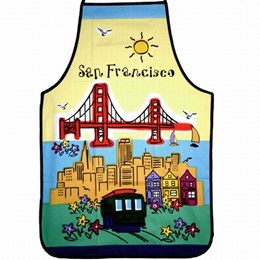 San Francisco Souvenir Hand Painted Apron