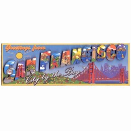 "San Francisco ""Greetings From SF"" 3D Magnet"