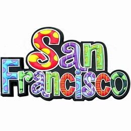 San Francisco Colorful Spellout Magnet