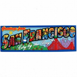 San Francisco Golden Gate Spellout Laser Magnet