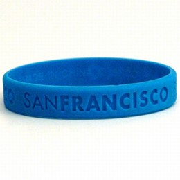 San Francisco Blue Silicone Wristband