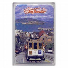 San Francisco Cable Car Mini Playing Cards (1.7 x 2.5 inches)