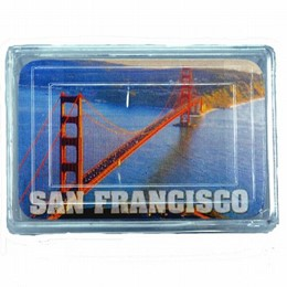 San Francisco Golden Gate Bridge Mini Playing Cards (1.7 x 2.5 inches)