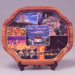 San Francisco Large Photo Collage Titoni Tin Souvenir Tray (16.25 x 13.25 inches