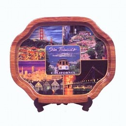 San Francisco Small Photo Collage Titoni Tin Souvenir Tray (7.5 x 6.5 inches)