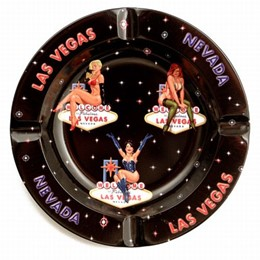 Las Vegas 3 Pinup Girls Ashtray