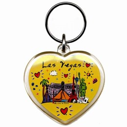 Las Vegas Subway Heart Shaped Keychain