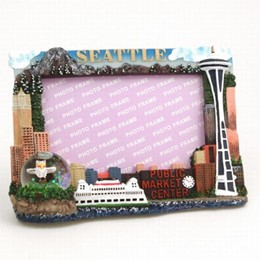 Seattle 3x5 Picture Frame w/ 35mm Snowglobe