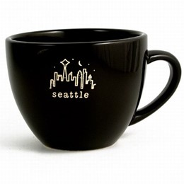 Seattle Black Typewriter Cappucino Mug
