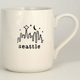 Seattle White Typewriter Mug (11oz)