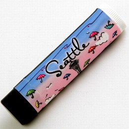 Seattle Hand Painted Umbrellas Lip Balm