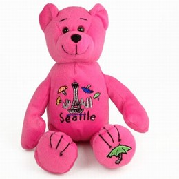 Seattle Umbrellas Plush Pink Bear